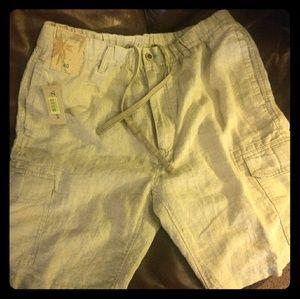 Caribbean Roundtree & York Linen Cargo Shorts